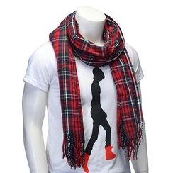 Cuteberry - 格紋流蘇圍巾