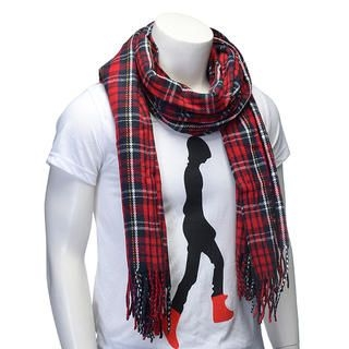 Cuteberry - Plaid Fringe Scarf