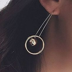 True Glam - Ball Threader Earrings