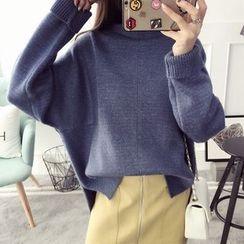 Qimi - 高领长款毛衣
