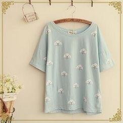 Fairyland - Short-Sleeve Cloud Print T-Shirt