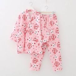 Meimei - Rabbit Print Loungewear Set