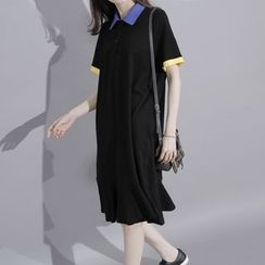 Sonne - Contrast-Trim Long Polo Shirt