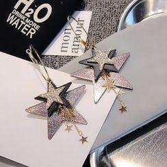 EPOQ - Glitter Star Hoop Earrings