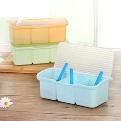 Homy Bazaar - 3 Compartment Seasoning Box