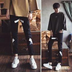 匡亿 - 印花修身长裤