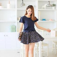 韓依依 - 小魚印花拼接連衣裙