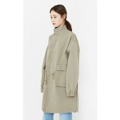 Someday, if - Stand-Collar Flap-Pocket Parka