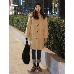 maybe-baby - Toggle-Button Hooded Coat