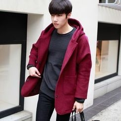 MEING - Hooded Button Coat