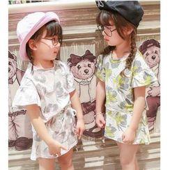 Candy Baby - Kids Set: Short-Sleeve Print T-Shirt + Skirt