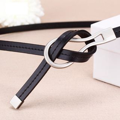 BAIEKU - Faux Leather Skinny Tie belt