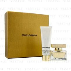 Dolce & Gabbana - The One Coffret: Eau De Parfum Spray 30ml/1oz + Body Lotion 50ml/1.6oz (Champagne Gold Box)