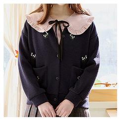 Sechuna - Embroidered Brushed Fleece Jacket