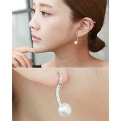 Miss21 Korea - Faux-Pearl Drop Earrings