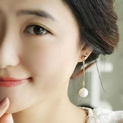 Ticoo - Faux Pearl Drop Earrings