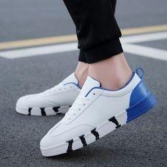 MARTUCCI - 仿皮配色边运动鞋