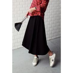 Momnuri - Maternity A-Line Long Skirt