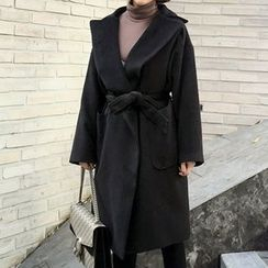 STYLEBYYAM - Wool Blend Loose-Fit Coat
