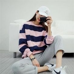 PINKSISLY - Round-Neck Color-Block Pullover