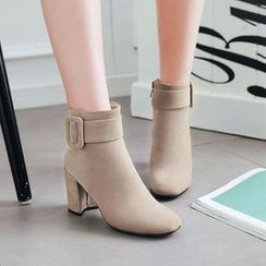 Megan - Buckled Ankle Boots