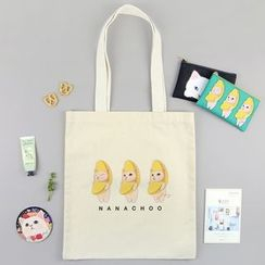 BABOSARANG - 'Choo Choo' Cat Series Canvas Shopper Bag