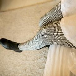 PIPPIN - Plaid Brushed-Fleece Leggings