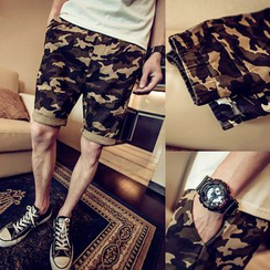 SICRIT - Cuffed Camouflage Shorts