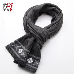 RGLT Scarves - Patterned Cable-Knit Scarf