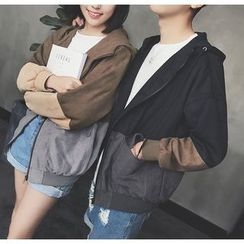 Bestrooy - Couple Matching Hooded Zip Jacket