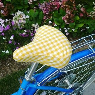 Gingham Bike Seat Cover