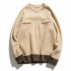 Milioner - Panel Fleece-lined Sweatshirt