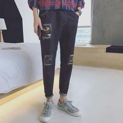子俊 - 貼布繡哈倫牛仔褲