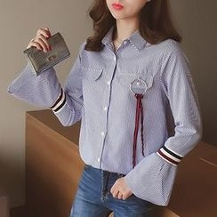 Cocofield - Pinstriped Blouse