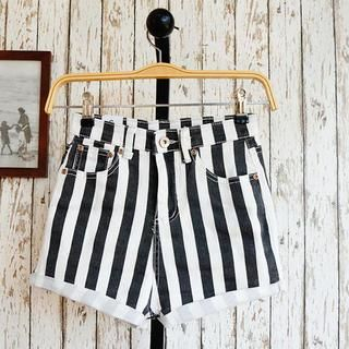 JVL - Striped Denim Shorts