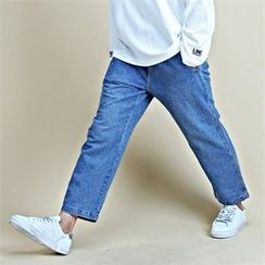 THE COVER - Drawstring-Waist Wide-Leg Jeans