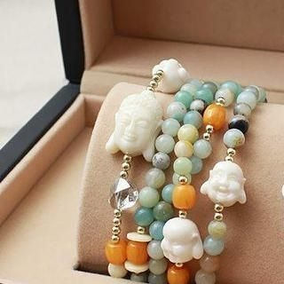 Love Generation - Buddha Multi-Strand Bead Bracelet