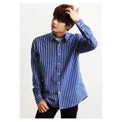 HOTBOOM - Long-Sleeve Striped Shirt (3 Colors)