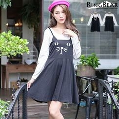 RingBear - Mock Two-Pieces Dress