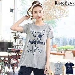 RingBear - Dog Printed Short Sleeve Tee