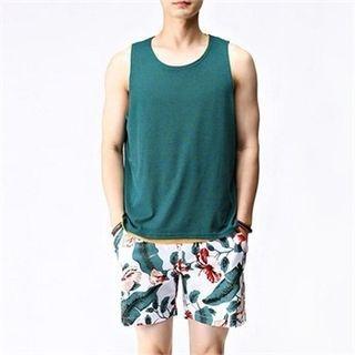 THE COVER - Linen-Blend Sleeveless T-Shirt