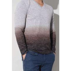 Ohkkage - Long-Sleeve V-Neck T-Shirt