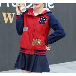 Dollisee - Hooded Baseball Jacket