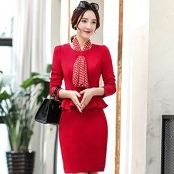Romantica - Long-Sleeve Ruffle-Trim Dress