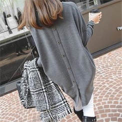 PEPER - Back-Botton Long T-Shirt