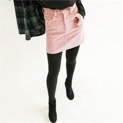 GLAM12 - Corduroy Mini Skirt