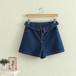 Aigan - Embroidery Denim Shorts