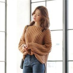 CHICLINE - Waffle-Knit Sweater