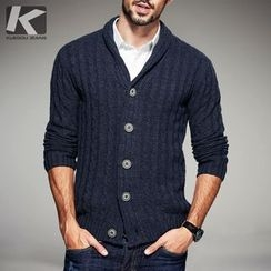 Quincy King - V-Neck Thick Cardigan