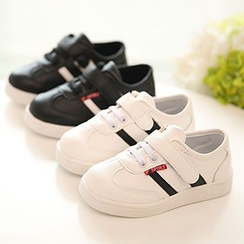 Luco - Kids Contrast Color Velcro Sneakers